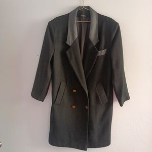 ADA Wool Leather Trim Double Lined Coat Vtg. 11/12